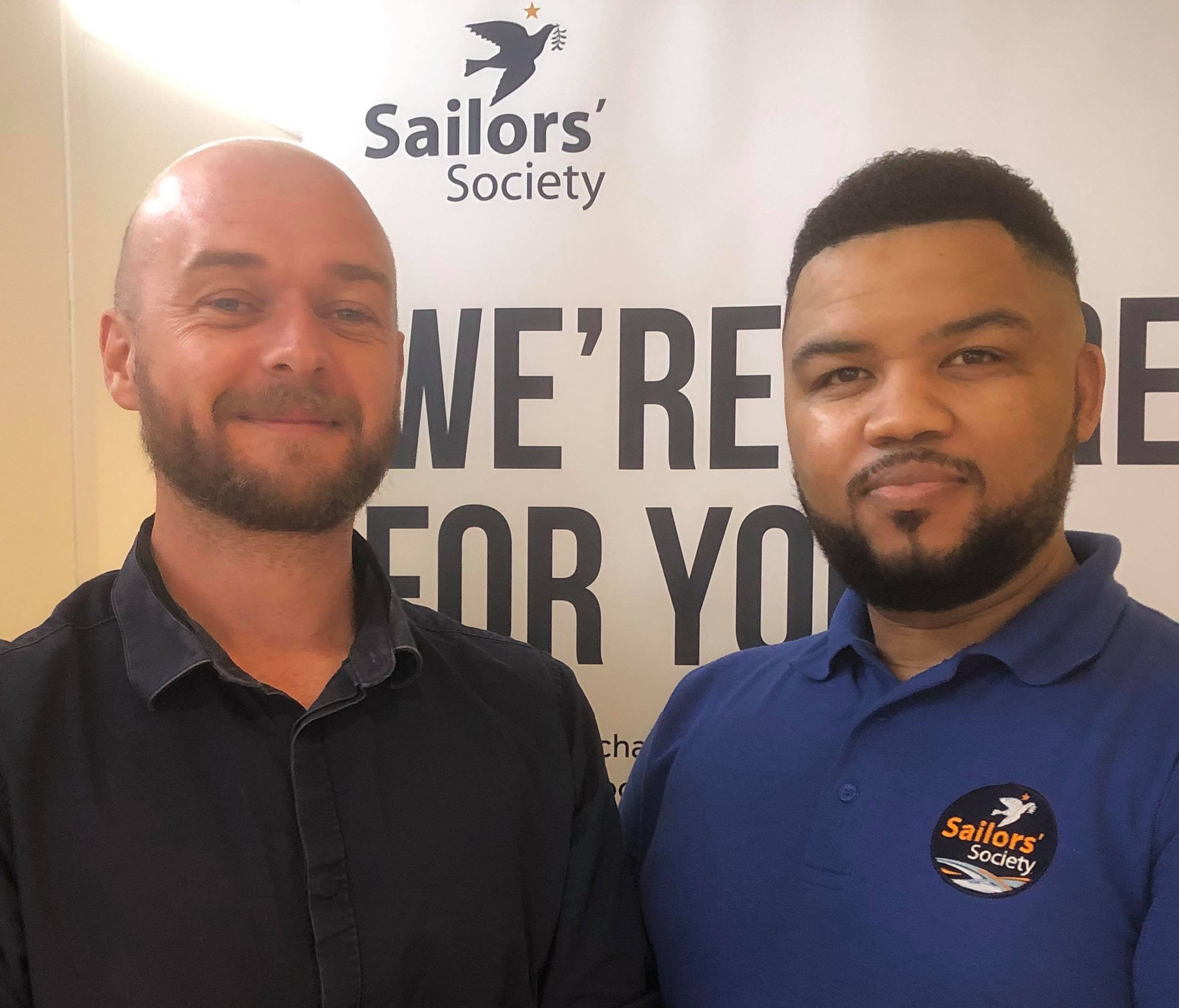 Two Simons welcome seafarers to Southampton
