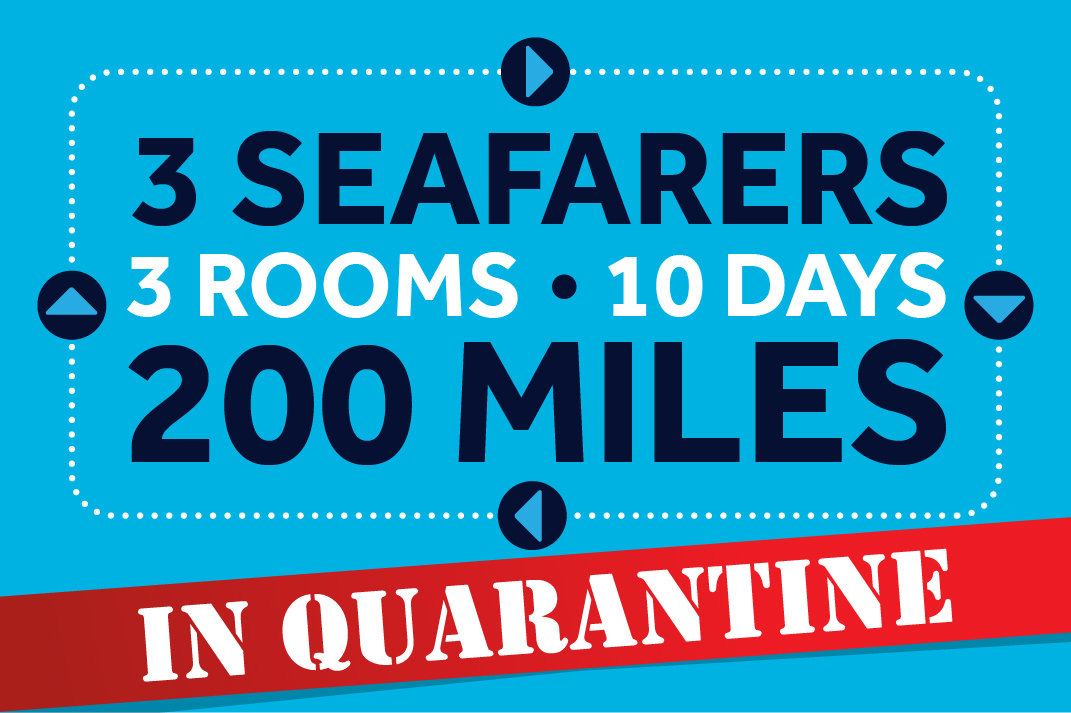Quarantined seafarers run 200 miles around a hotel bedroom for charity