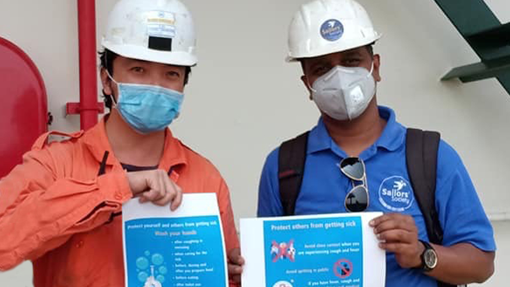 Sailors' Society supports quarantined seafarers